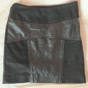 BCBG new faux leather skirt